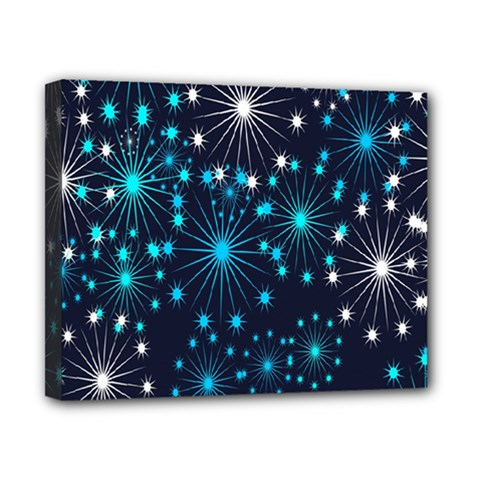 Digitally Created Snowflake Pattern Background Canvas 10  x 8