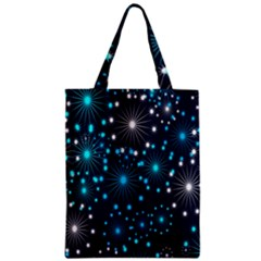 Digitally Created Snowflake Pattern Background Zipper Classic Tote Bag