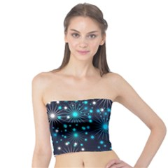 Digitally Created Snowflake Pattern Background Tube Top