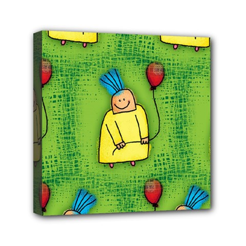 Party Kid A Completely Seamless Tile Able Design Mini Canvas 6  X 6