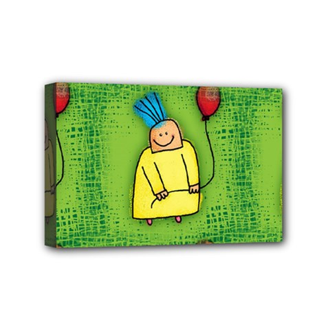 Party Kid A Completely Seamless Tile Able Design Mini Canvas 6  x 4