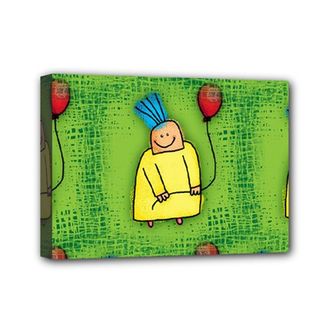 Party Kid A Completely Seamless Tile Able Design Mini Canvas 7  x 5