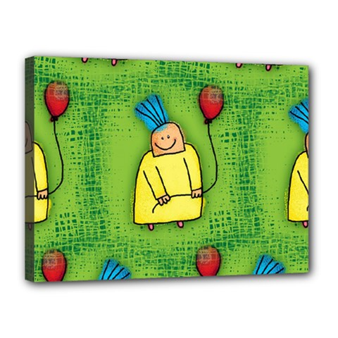 Party Kid A Completely Seamless Tile Able Design Canvas 16  X 12