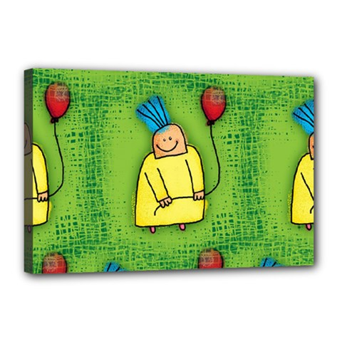 Party Kid A Completely Seamless Tile Able Design Canvas 18  X 12
