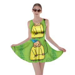 Party Kid A Completely Seamless Tile Able Design Skater Dress