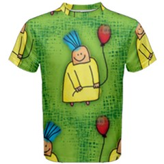 Party Kid A Completely Seamless Tile Able Design Men s Cotton Tee