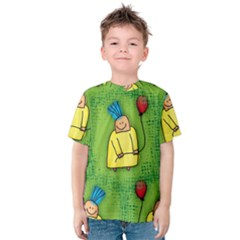 Party Kid A Completely Seamless Tile Able Design Kids  Cotton Tee