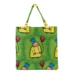 Party Kid A Completely Seamless Tile Able Design Grocery Tote Bag