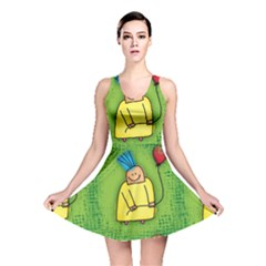 Party Kid A Completely Seamless Tile Able Design Reversible Skater Dress