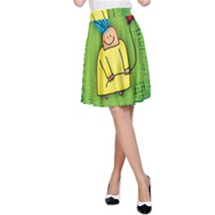 Party Kid A Completely Seamless Tile Able Design A Line Skirt
