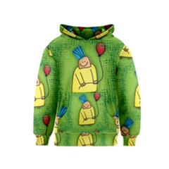 Party Kid A Completely Seamless Tile Able Design Kids  Pullover Hoodie
