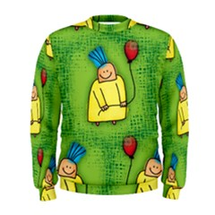 Party Kid A Completely Seamless Tile Able Design Men s Sweatshirt