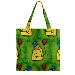 Party Kid A Completely Seamless Tile Able Design Zipper Grocery Tote Bag