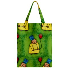Party Kid A Completely Seamless Tile Able Design Zipper Classic Tote Bag