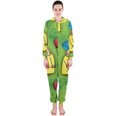 Party Kid A Completely Seamless Tile Able Design Hooded Jumpsuit (ladies)