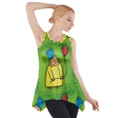 Party Kid A Completely Seamless Tile Able Design Side Drop Tank Tunic