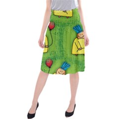 Party Kid A Completely Seamless Tile Able Design Midi Beach Skirt