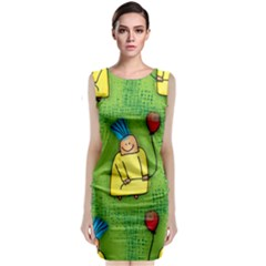 Party Kid A Completely Seamless Tile Able Design Classic Sleeveless Midi Dress