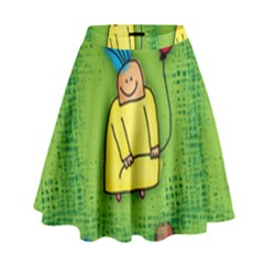 Party Kid A Completely Seamless Tile Able Design High Waist Skirt