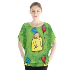 Party Kid A Completely Seamless Tile Able Design Blouse