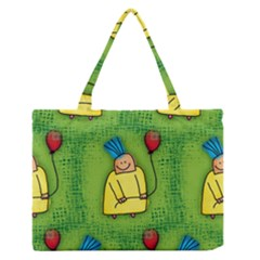 Party Kid A Completely Seamless Tile Able Design Medium Zipper Tote Bag
