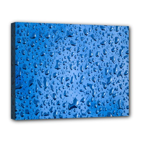 Water Drops On Car Canvas 14  x 11