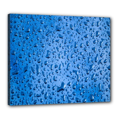 Water Drops On Car Canvas 24  x 20