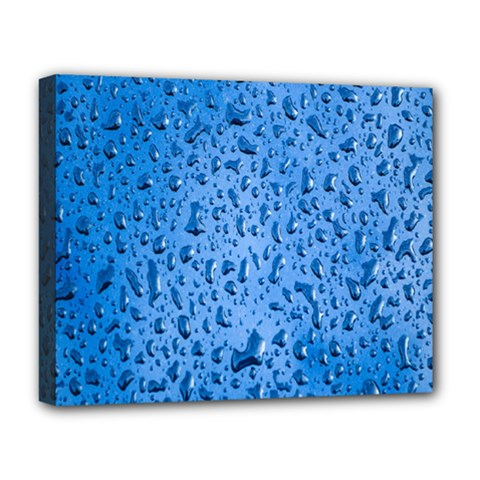 Water Drops On Car Deluxe Canvas 20  X 16