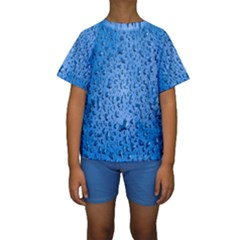 Water Drops On Car Kids  Short Sleeve Swimwear