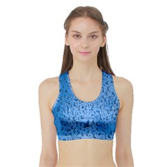 Water Drops On Car Sports Bra with Border