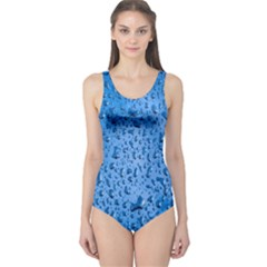 Water Drops On Car One Piece Swimsuit