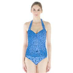 Water Drops On Car Halter Swimsuit