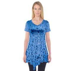Water Drops On Car Short Sleeve Tunic