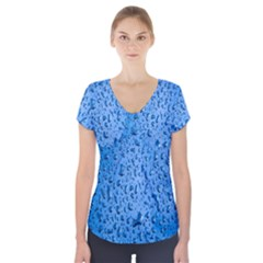 Water Drops On Car Short Sleeve Front Detail Top