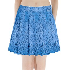 Water Drops On Car Pleated Mini Skirt