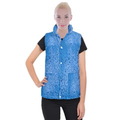 Water Drops On Car Women s Button Up Puffer Vest