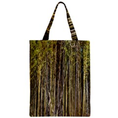 Bamboo Trees Background Zipper Classic Tote Bag