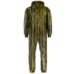 Bamboo Trees Background Hooded Jumpsuit (men)