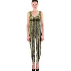Bamboo Trees Background Onepiece Catsuit