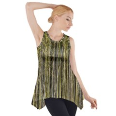 Bamboo Trees Background Side Drop Tank Tunic