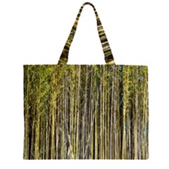 Bamboo Trees Background Large Tote Bag