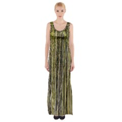 Bamboo Trees Background Maxi Thigh Split Dress