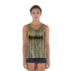 Bamboo Trees Background Women s Sport Tank Top