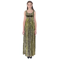 Bamboo Trees Background Empire Waist Maxi Dress