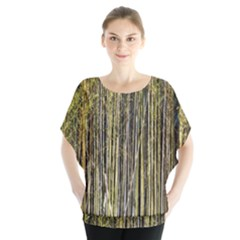 Bamboo Trees Background Blouse