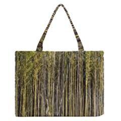 Bamboo Trees Background Medium Zipper Tote Bag