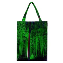 Spooky Forest With Illuminated Trees Classic Tote Bag