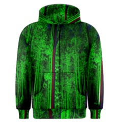 Spooky Forest With Illuminated Trees Men s Zipper Hoodie