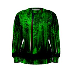 Spooky Forest With Illuminated Trees Women s Sweatshirt