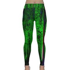 Spooky Forest With Illuminated Trees Classic Yoga Leggings